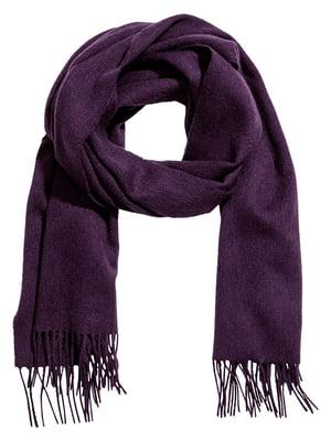 Шарф темно-фіолетовий | 5583952