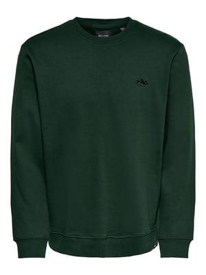 Свитшот темно-зеленый | 5580790