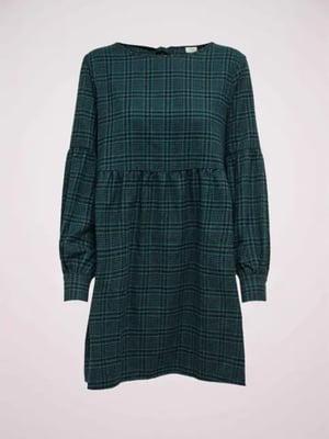 Платье темно-бирюзовое в клетку | 5580757