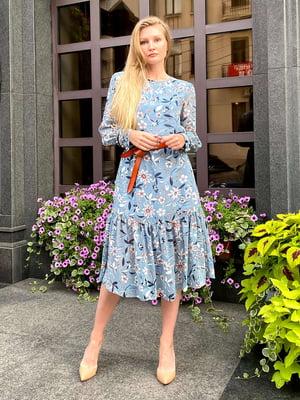 Сукня блакитне у квітковий принт | 5579271