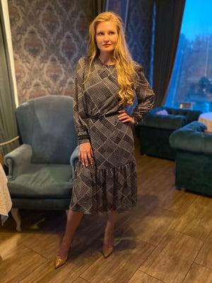 Сукня чорна з ромбами | 5579329