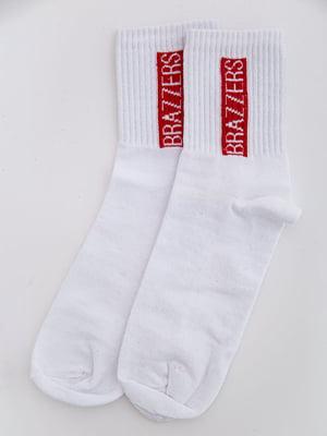 Носки белые с принтом | 5584959