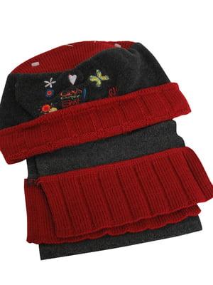 Комплект: шапка і шарф | 5585138