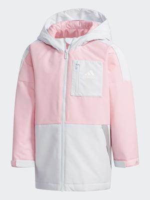 Куртка біло-рожева   5585155