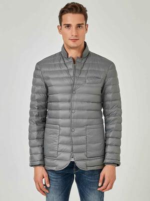Куртка-пиджак серебристого цвета | 5540838