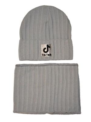 Комплект: шапка та шарф-снуд   5586345