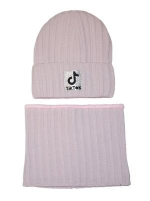 Комплект: шапка та шарф-снуд   5586349