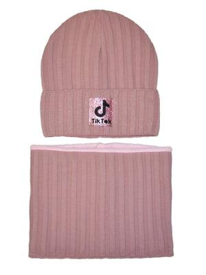 Комплект: шапка та шарф-снуд   5586354