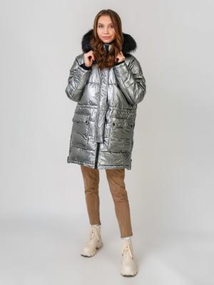 Куртка серебристого цвета | 5580227
