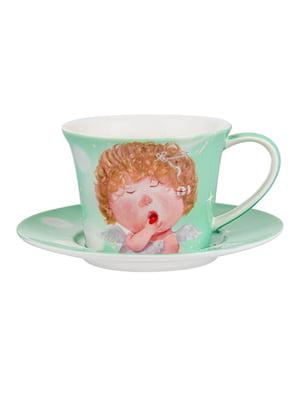 Чайний набір: чашка і блюдце | 5587527