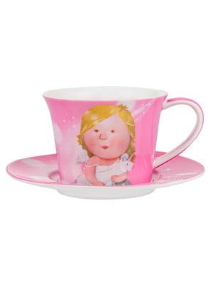Чайний набір: чашка і блюдце | 5587532