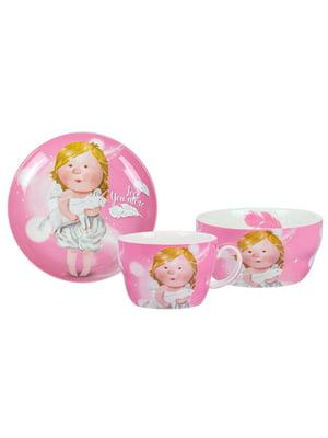 Столовий набір дитячий: чашка і тарілки (2 шт.) | 5587535
