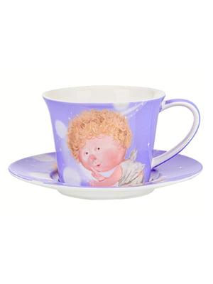 Чайний набір: чашка і блюдце | 5587543