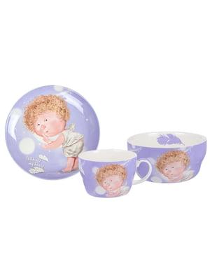 Столовий набір дитячий: чашка і тарілки (2 шт.) | 5587546