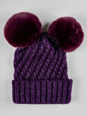 Шапка фиолетовая | 5588399