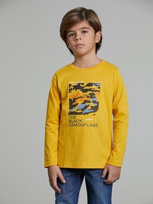 Реглан желтый с принтом   5588411