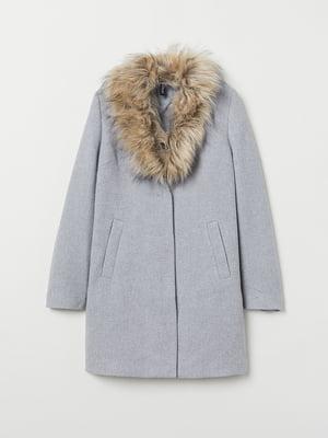 Пальто сіро-блакитного кольору | 5519350