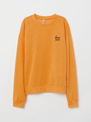 Свитшот оранжевый в принт | 5519357