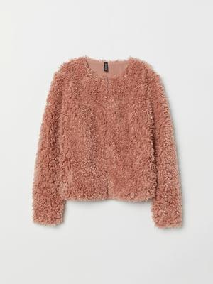 Жакет меховой розовый | 5519406