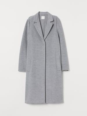Пальто цвета светло-серый меланж | 5548324