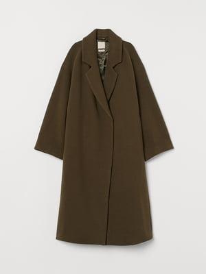 Пальто кольору хакі | 5574302