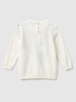 Джемпер молочного цвета с принтом | 5588588