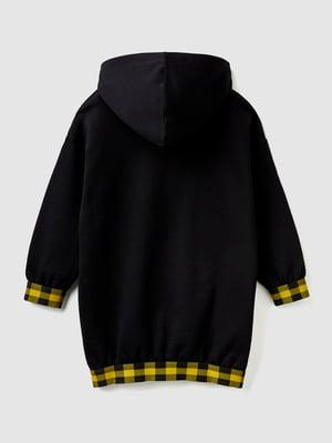 Платье черное с принтом | 5588634