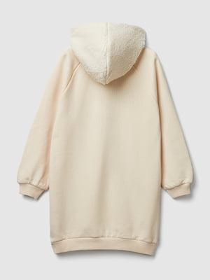 Платье кремового цвета с принтом | 5588651