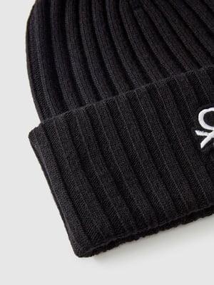 Шапка черная с логотипом | 5588736