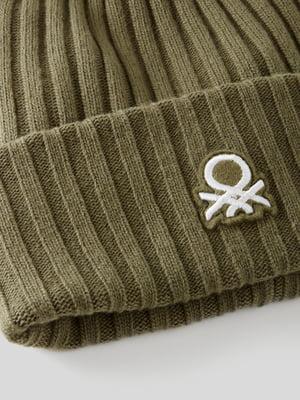 Шапка цвета хаки с логотипом | 5588738