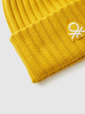 Шапка желтая с логотипом | 5588739