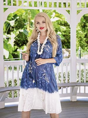 Платье комбинированного цвета в принт | 5589087