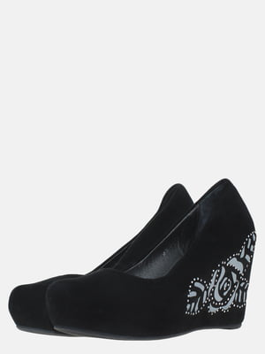 Туфли черные с рисунком | 5588788