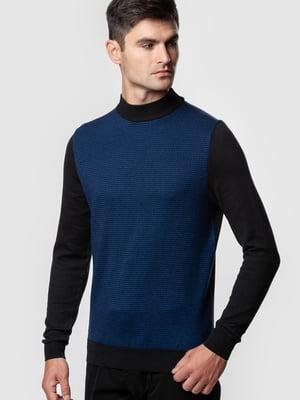 Джемпер сине-черный | 5590317