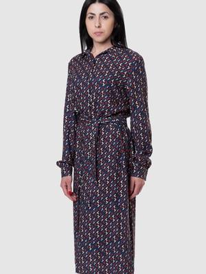 Платье синее в принт | 5590356