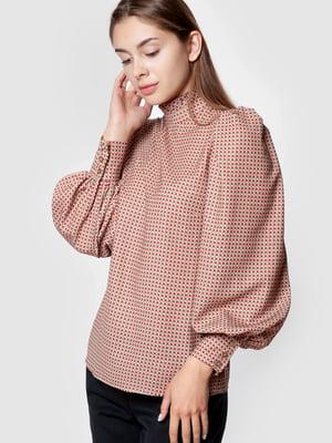 Блуза розовая в клетку | 5590365