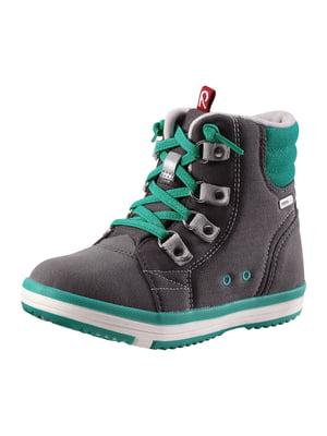 Ботинки серо-зеленые | 5330126