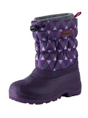 Сапоги фиолетовые с орнаментом | 5331211