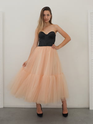 Сукня чорно-персикового кольору | 5590477
