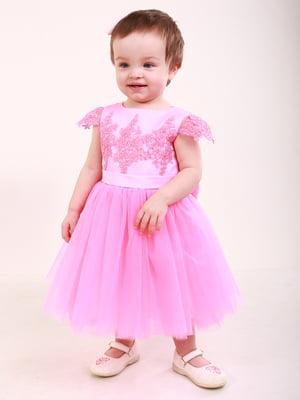 Сукня рожева з декором | 5590484