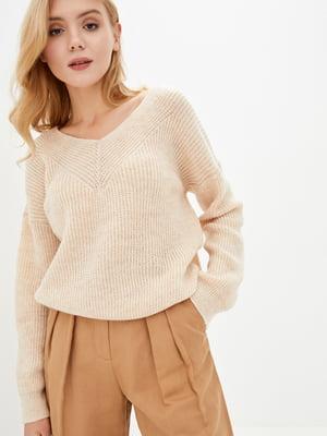 Пуловер персикового цвета | 5563482