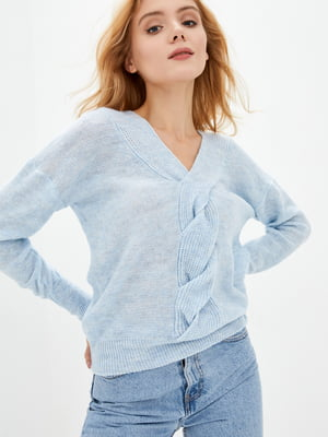 Пуловер голубой | 5563485