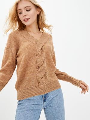 Пуловер пісочного кольору | 5568849