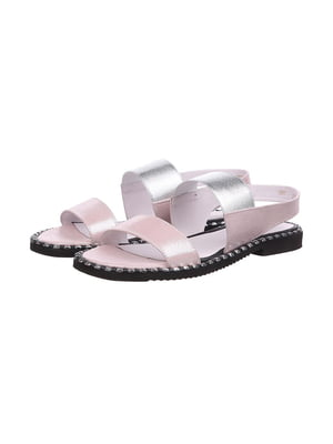 Босоножки розово-серебристого цвета | 5502361