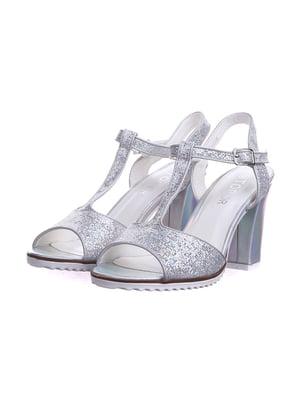 Босоніжки сріблястого кольору | 5531226