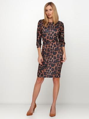 Сукня коричнева в анімалістичний принт | 5591592