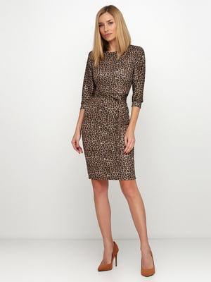 Сукня коричнева в анімалістичний принт | 5591593