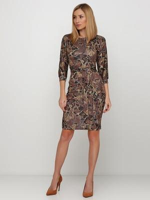 Сукня коричнева в анімалістичний принт | 5591594