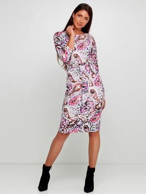 Сукня сіра в принт | 5591632