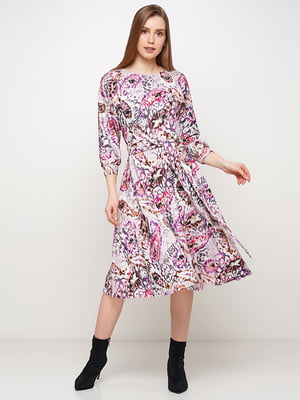 Платье серое в принт | 5591636